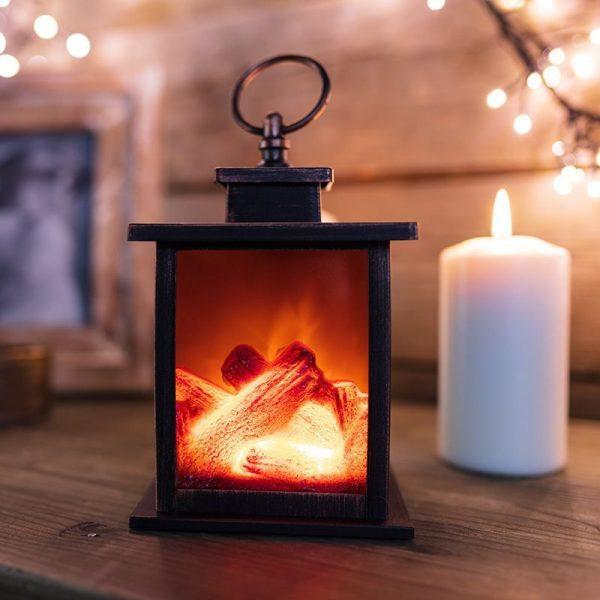 Светодиодный камин-светильник