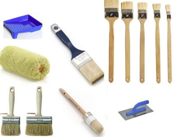 Необходимые инструменты для работы с краской и грунтовкой