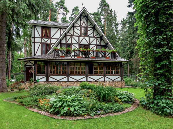 Дачный домик Парфенова в стиле фахверк