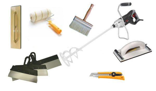 Инструменты для работы с декоративной штукатуркой