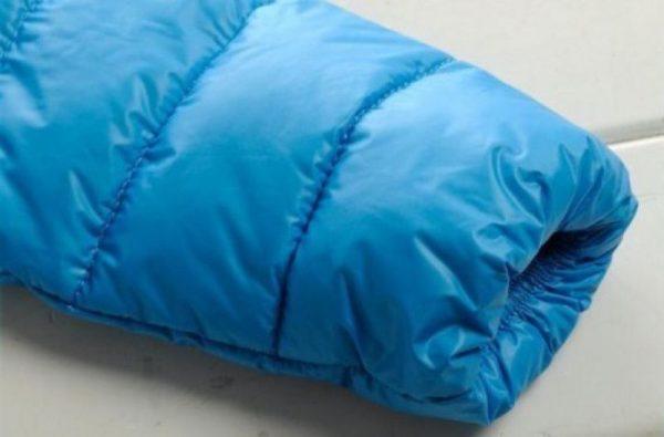 Голубой пуховик куртка