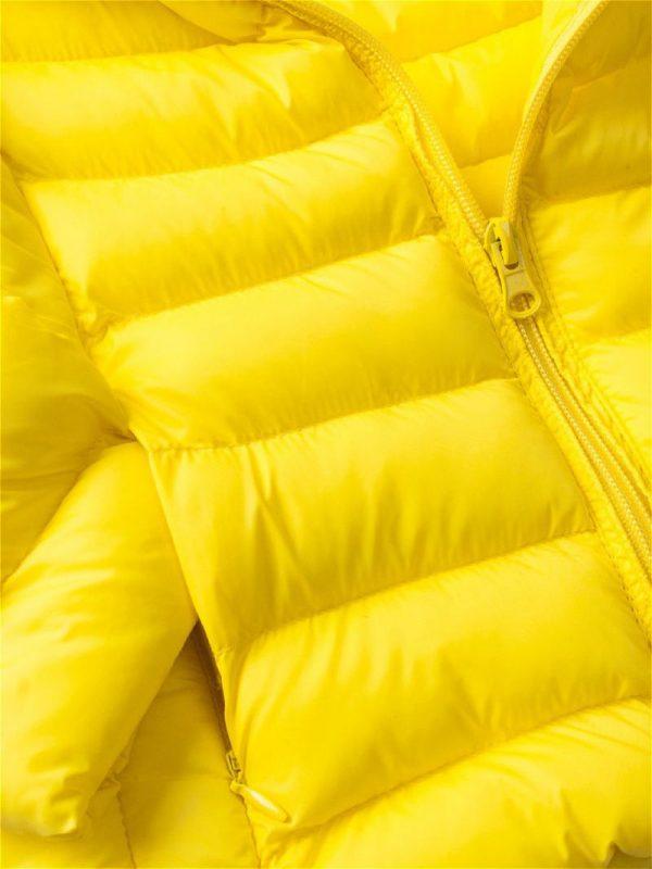 Желтый пуховик куртка