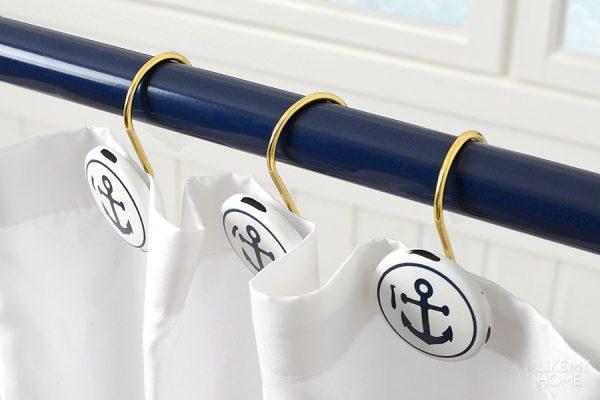 Кольца для ванной шторки