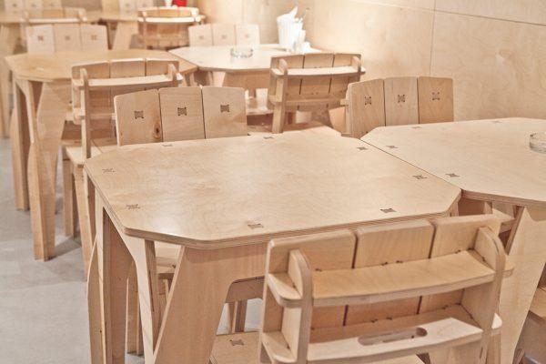 Мебель для кафе из фанеры