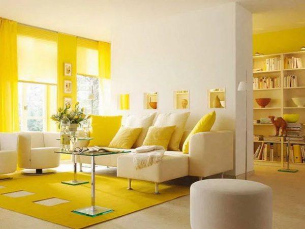 Лимонный цвет в интерьере
