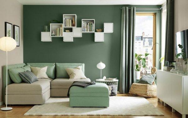Серо-зеленые цвета в интерьере