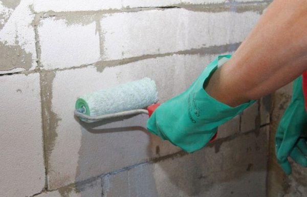 Грунтование газобетонных стен