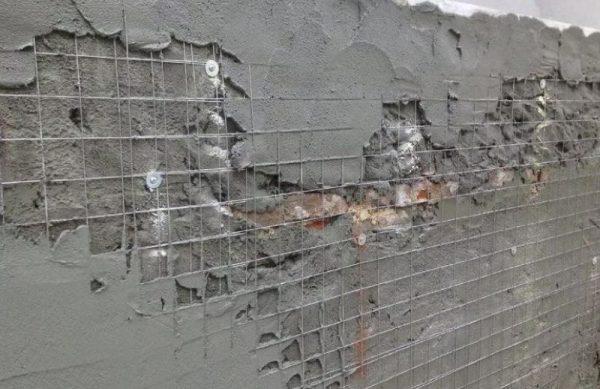 Армирование и выравнивание газобетонных стен снаружи