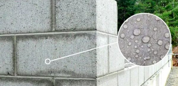 Защита пенобетона от влаги - Гидрофобизация
