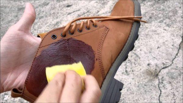Покраска нубуковой обуви