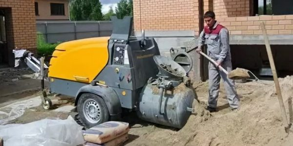 Приготовление цементно-песчаной смеси для штукатурной станции