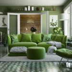 Серо-зеленый цвет в интерьере