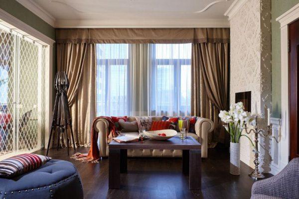 Интерьер гостиной в квартире Панкратова