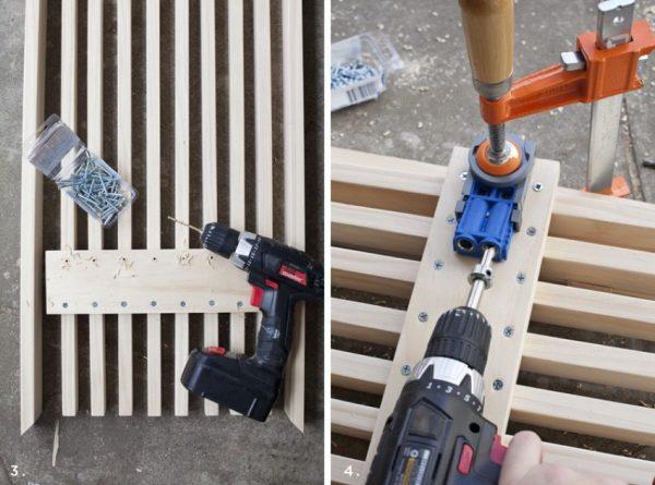 Крепление деревянных реек своими руками