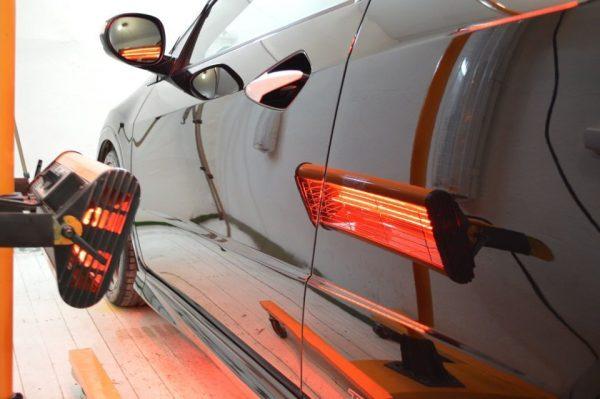 Инфракрасная сушка автомобиля после покраски