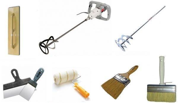 Инструменты для работы с микроцементом