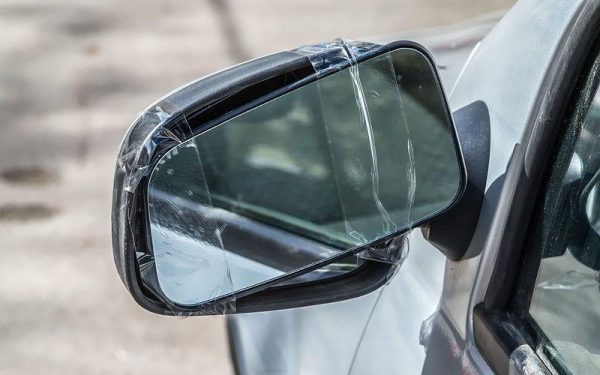 Как приклеить боковое зеркало заднего вида