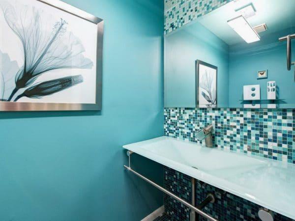 Керамическая краска в ванной