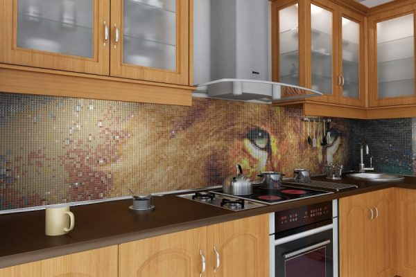 Панно на кухонный фартук из плитки