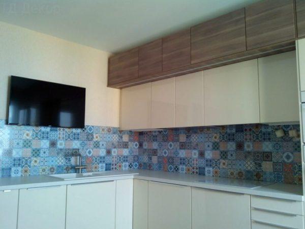 Стеновая панель для кухни из клеенки