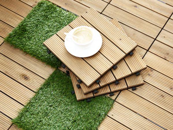 Напольные плитки из твердой тиковой древесины