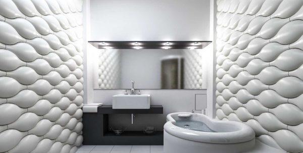 Пластиковые 3D панели для ванной комнаты