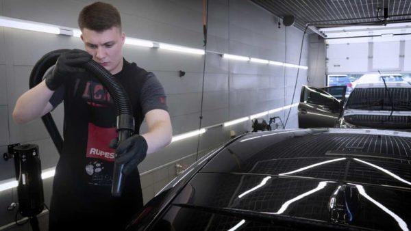 Подготовка автомобиля к мойке