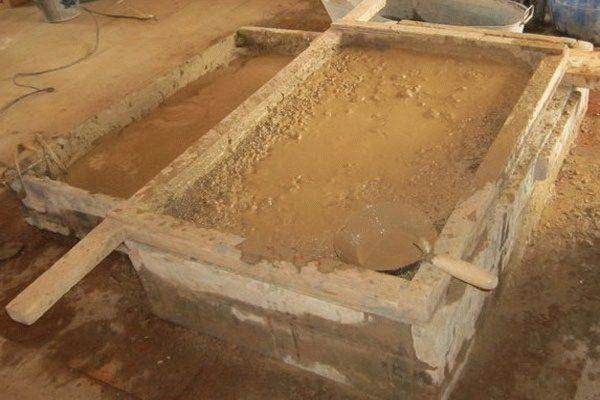 Приготовление штукатурного раствора на основе глины