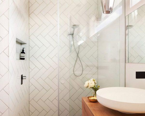 Плитка елочка для ванной комнаты