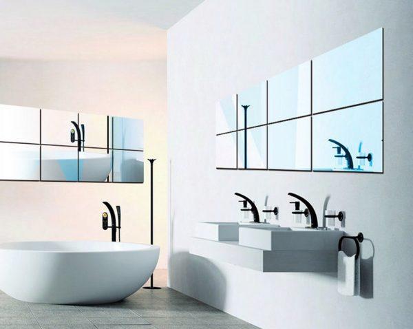 Самоклеющиеся декоративные зеркальные плитки