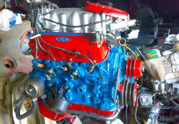 Самостоятельное окрашивание автомобильного двигателя