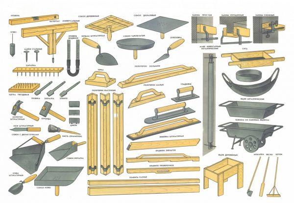 Штукатурные инструменты и приспособления