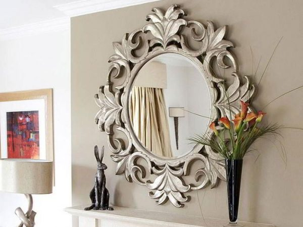 Сочетание зеркал с другими материалами