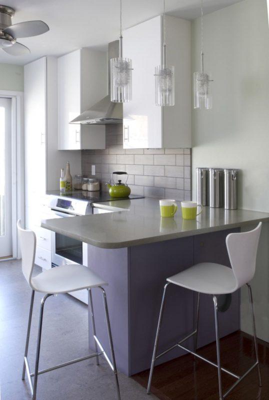 Барная стойка в небольшой кухне