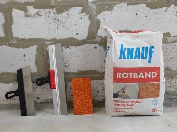 Универсальная гипсовая штукатурка Rotband