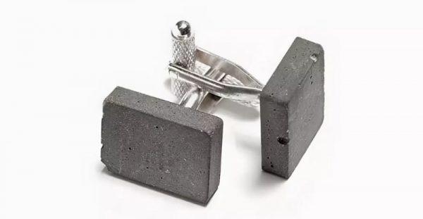 Дизайнерские запонки бетонные