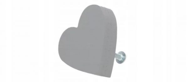 Мебельная ручка в виде сердечка
