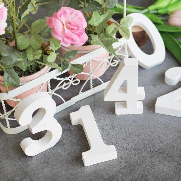 Таблички номера для столов на свадьбу из бетона