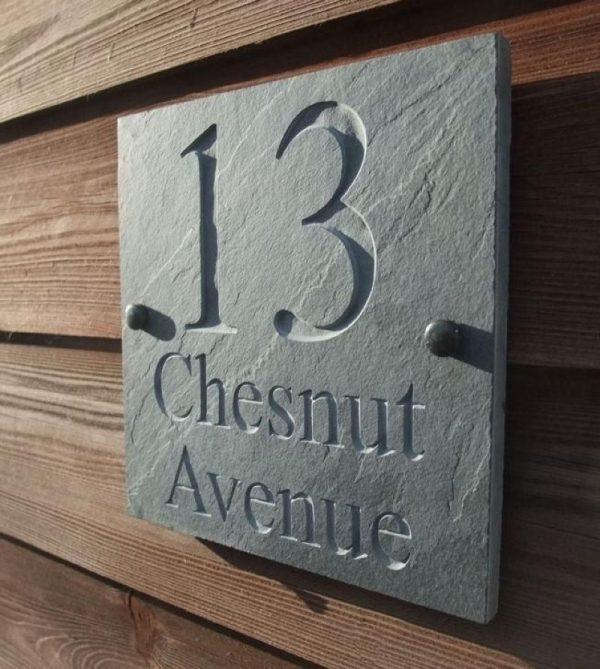 Номера для дома из бетона