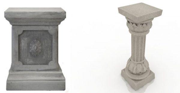 Подставки для вазы бетонная