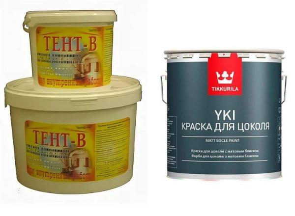 Краска-антисептик «Тент-В» и Tikkurila