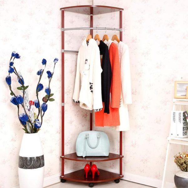 Угловая напольная вешалка для одежды
