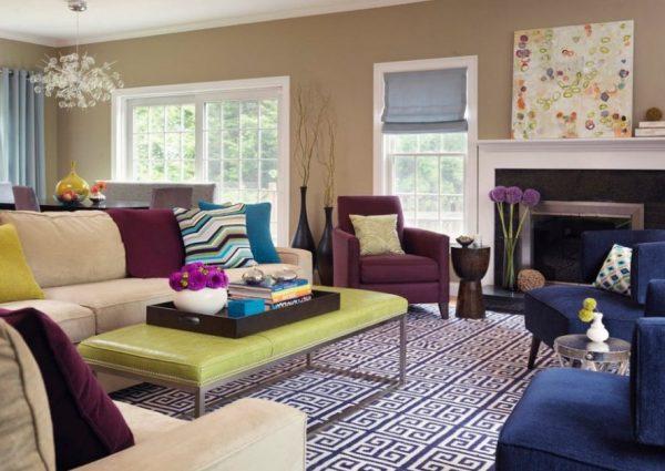 Цветовые палитры для интерьера гостиной