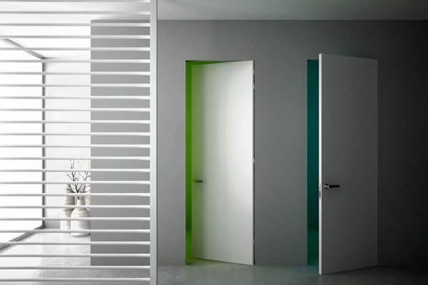 Двери со скрытым коробом