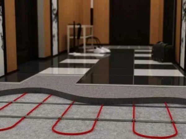 Электрический теплый пол в коридоре