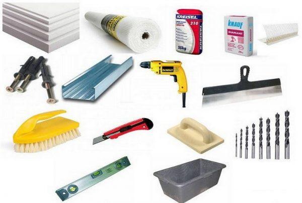Инструменты для утепления фасада
