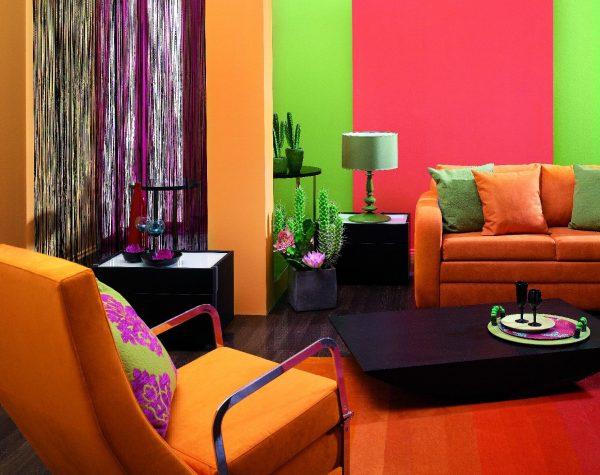Контрастные цвета в интерьере