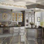 Роскошная серая кухня