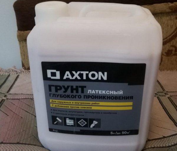Латексная грунтовка Axton