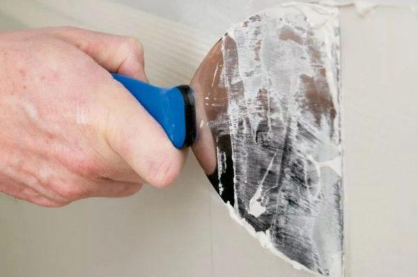 Масляная шпаклевка для выравнивания стен